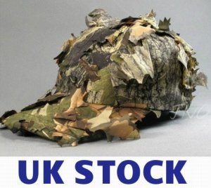 UK STOCK 3D Cap Jungle Camouflage Hunter Hunting Hat Cap Deciduous Leaves Bionic Hat Fast Delivery