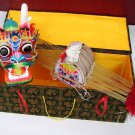 TRADITIONAL CHINESE DRAGON KITE w/ EXQUISITE SAMITE BOX GREAT GIFT IDEA ART DECO