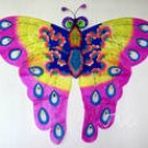 3D Purple Butterfly Kite Outdoor Toy Home Decor Chinese Traditional Kite Christmas Xmas Gift Ideas