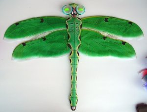 3D JADE DRADONFLY KITE CHINESE TRADITIONAL HANDICRAFT COLLECTIBLE