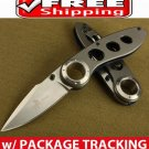 F47 BLACK HOLE HEAVY STEEL POCKET FOLDING KNIFE BLADE w TITANIUM COATING CAMPING GEAR