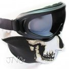 2 in 1 MOTORCYCLE BICYCLE BIKER SKI SNOWBOARD FACE MASK & X400 UV PROTECTION GOGGLES GLASSES SET