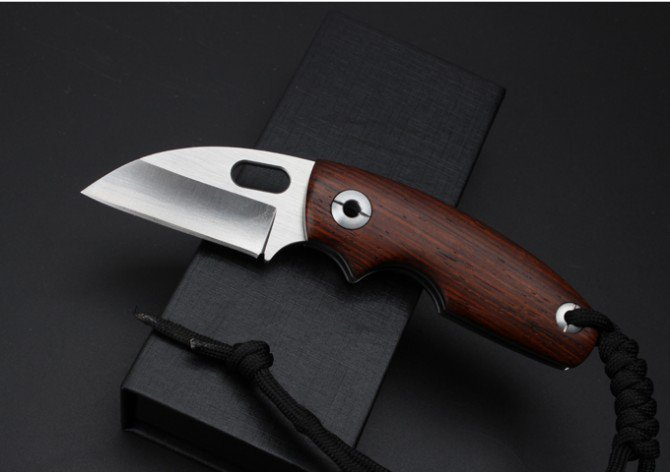 (Toucan) Cocobolo Wood D2 Stainless Steel Pocket Folding Knife, Survival, Camping Outdoor Gear New