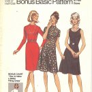Simplicity #9550 Half Size Basic Slim or Flared Dresses in 3 Views w/ Bonus Chart Bust 37 Pattern