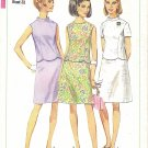 Simplicity #7127 Misses 1960s Scalloped Edge Top & A-Line Skirt Set in 3 Views Bust 31 Pattern