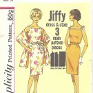 Simplicity #4471 Misses 1960s Sleeveless Slim Belted Dress & Stole Bust 36 Pattern
