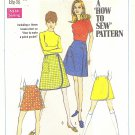 Simplicity #7498 Misses 1960s Front Wrap 2 Length Skirt & Shorts Waist 25 1/2 Pattern