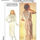 Simplicity #8224 Jessica McClintoch Misses 1980s Flounce or Fishtail Back Dress Bust 36 Pattern