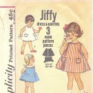 Simplicity #5013 Toddler 1960s Tent Shaped Dress & Panties in 3 Views Size 1 Pattern