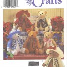 """Simplicity Crafts #7895 Elaine Heigl 18"""" Jointed Stuffed Bears w/ Hat & Coat or Vest FF Pattern"""
