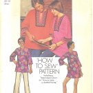 Simplicity #5828 Unisex 1970s Mens Daskiki Shirt or Misses Daskiki Dress Sz 38-40 Pattern