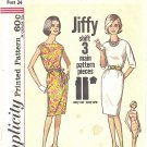 Simplicity #4947 Misses JIFFY Classic Shift Dress w/ Belt in 3 Views Bust 34 Pattern