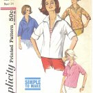"""Simplicity #4938 Misses 1960s """"Simple to Make"""" Pullover Shirt & Vestee Bust 34 Pattern"""
