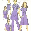 Simplicity #9076 Misses 1970s Versatile Dresses & Pant w/ Collar Options Bust 38 Pattern