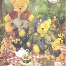"Butterick #5029 Beardeaux Stuffed Bear Family in 15"" & 7 1/2"" Size Plus Clothing FF Pattern"