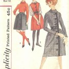 Simplicity #4079 Teen 1960s Two Length Button Front Jumper or Skirt Bust 32 Pattern