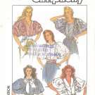 Simplicity #8496 Misses POOF Slv Cut Into Bodice Blouses in 5 Views Sz 6-8-10 FF Pattern