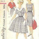 Simplicity #3323 Sub-Teen Slim or Full Dress & Double Breasted Jacket Bust 28 Pattern