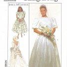 Jessica McClintock Simplicity #9050 Back Cascade Wedding Gown & Bridesmaid B38 FF Pattern
