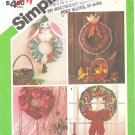 "Simplicity #6617 Thanksgiving-Christmas-Easter-Valentine Soft 17"" Wreaths FF Pattern"