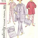 Simplicity #4184 Misses 1960s Pajamas / Lounge Coat / Case / Transfer Bust 36 FF Pattern