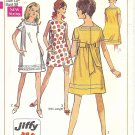 Simplicity #7659 Junior Petite 1960s Back Tie Two Length Jiffy Dress Bust 32 Pattern