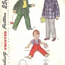 Simplicity #3083 Boys 1940s Jacket & Pant w/ Suspender Option Size 8 Pattern