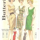 Butterick #2434 1960s Proportioned Belt Option Jumper Dress~3 Views~Bust 34 Pattern