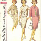 Simplicity #5881 Misses Mandarin Collar Suit w/ Slim Skirt and Blouse Bust 34 Pattern
