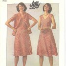 Simplicity #7965 Misses 1970s V Neck Cap Slv Knit Dress and Jacket Bust 38 Pattern
