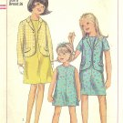 Simplicity #7039 Girls 1960s Sleeveless Dress & Jacket w/ 2 Sleeve Lengths Size 8 Pattern