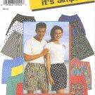Simplicity #9057 Family Elastic Waist Shorts w/ Faux Fly Front Sz XXS to XL FF Pattern