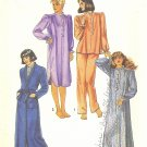Simplicity #6625 Misses 80s Pajamas / Nightgown / Nightshirt / Robe Size 14 - 16 Pattern