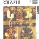 McCalls #8892 Christmas Country Angel / Ornaments / Stocking / Garland Trim FF Pattern