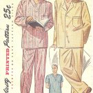 Simplicity #2207 Mens 1940s Long or Short Pajamas in 3 Views Chest 38 - 40 Vintage Pattern