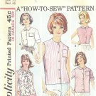 "Simplicity #5285 Misses 1960s Casual Blouses in 5 Views Bust 36 ""How to Sew"" Pattern"