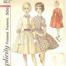 Simplicity #4581 Sub-Teen 1960s Full Gathered Skirt Dress w/ 3 Bodice Views Bust 31 Pattern