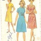 Simplicity #9383 Misses 1970s Dress - 2 Necklines - Inset Belt - Seam Interest Bust 38 Pattern