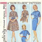 "Simplicity #5059 Teen 1960s ""How to Sew"" Full or Slim Shirtwaist Dress Bust 32 Pattern"