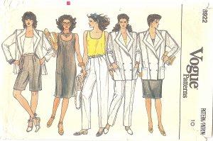 """VOGUE #8922 Misses 1980s """"Mix & Match"""" Jacket / Top / Pants / Shorts / Dress Bust 32 1/2 FF Pattern"""