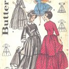 Butterick #9584 Misses 1960s Old West or Squaredance Dresses & Sunbonnet - 4 Views Bust 36 Pattern