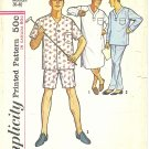 Simplicity #5039 Mens 1950s Nightshirt and Two Length Pajamas - 2 Styles Medium Pattern