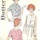 Butterick #8948 Misses 1950s Cropped Button Front Blouses in 3 Versions Bust 32 Vintage Pattern