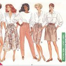 Butterick #3215 Misses ReTrO 80s Classic Baggy Shorts-Pants-Slim / Full Skirt Sz 6 - 22 FF Pattern