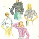 Butterick #3936 Misses ReTrO 80s Romantic Tie Collar Blouses in 4 Views Sz 12 FF Pattern