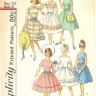 Simplicity #4925 Sub-Teen 1950s Pretty Full Skirt Frock in 6 Versions Size 12 Vintage Pattern