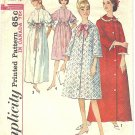 Simplicity #5726 Misses 1960s Button Front House Robes in 2 Lengths & 4 Views Bust 40 Pattern