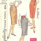 Simplicity #3114 Misses 1960s Monogram 1 Yd Slim Skirts-3 Views W 24 Pattern