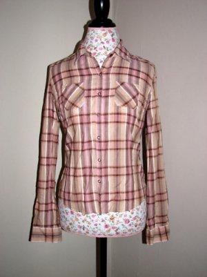 NWOT Pacsun  Tilt Pink Plaid Button Up Shirt MEDIUM