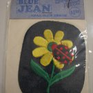 Vintage 60's Yellow Flower Ladybug Blue Jean Denim Fashion Repair Patch